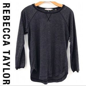 💕SALE Rebecca Taylor Gray Diamond Embellished Top